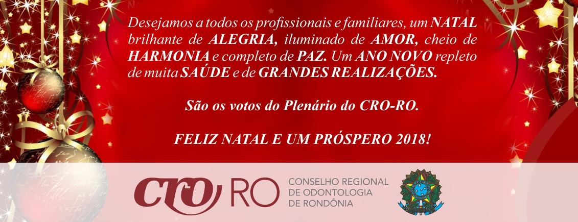 Plenário do CRO-RO deseja Feliz Natal e um Próspero Ano Novo