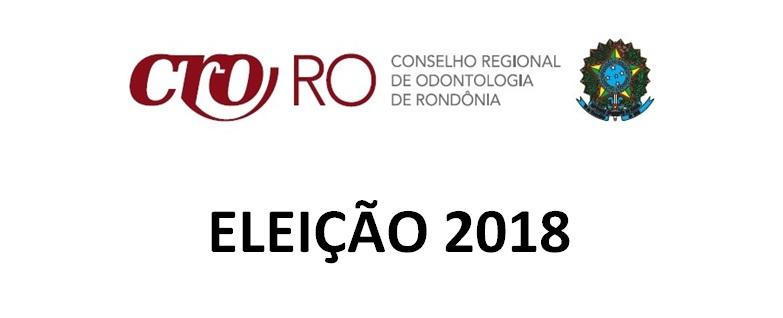 CRO-RO INFORMA ELEIÇÃO 2018 SERÁ VIA ONLINE
