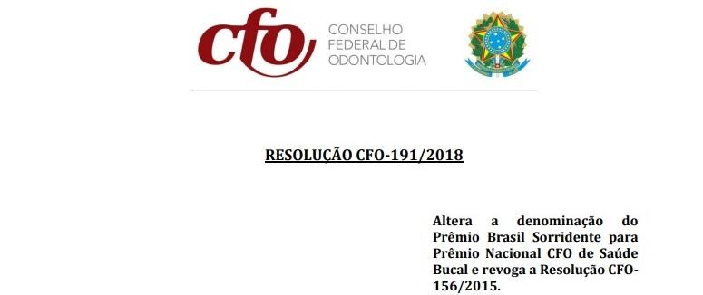CRO-RO divulga Prêmio Nacional CFO de Saúde Bucal