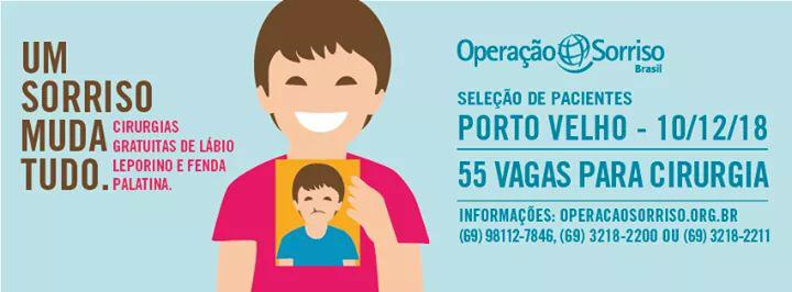 Projeto Operação Sorriso abre 55 vagas para cirurgias gratuitas em Porto Velho