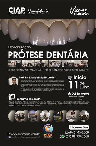 Especializacao em Protese Dentaria