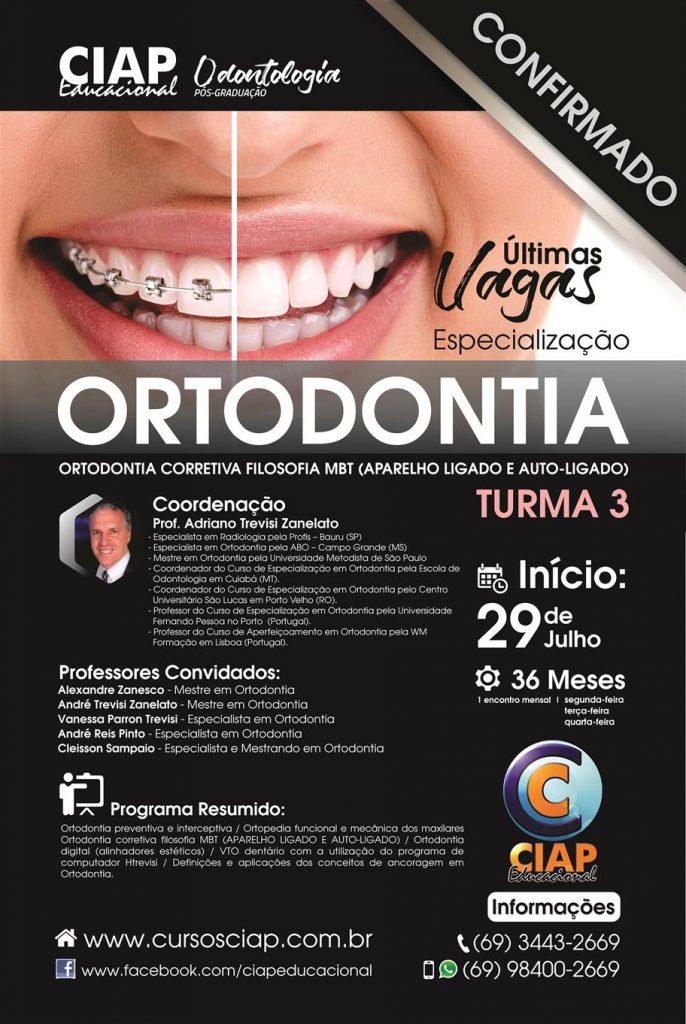 Especializacao em Ortodontia 2019 - Ultimas Vagas