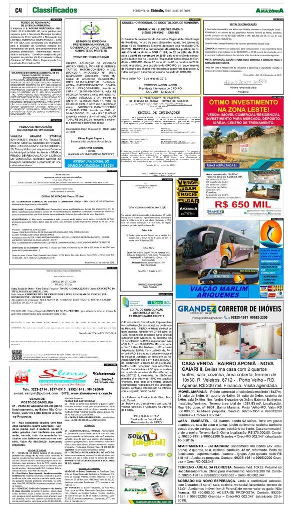 Publicação Diario da Amazonia