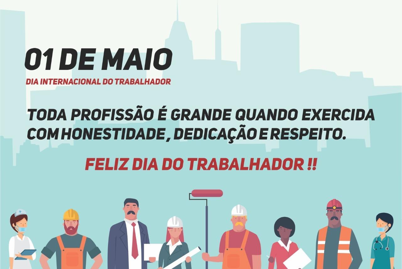 DIA INTERNACIONAL DO TRABALHADOR (01/05) uma homenagem do CRO-RO