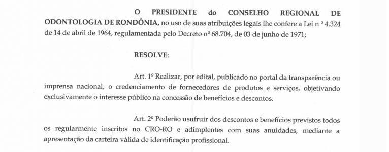 RESOLUÇÃO CRO-RO Nº 04 DE 13 DE ABRIL DE 2020