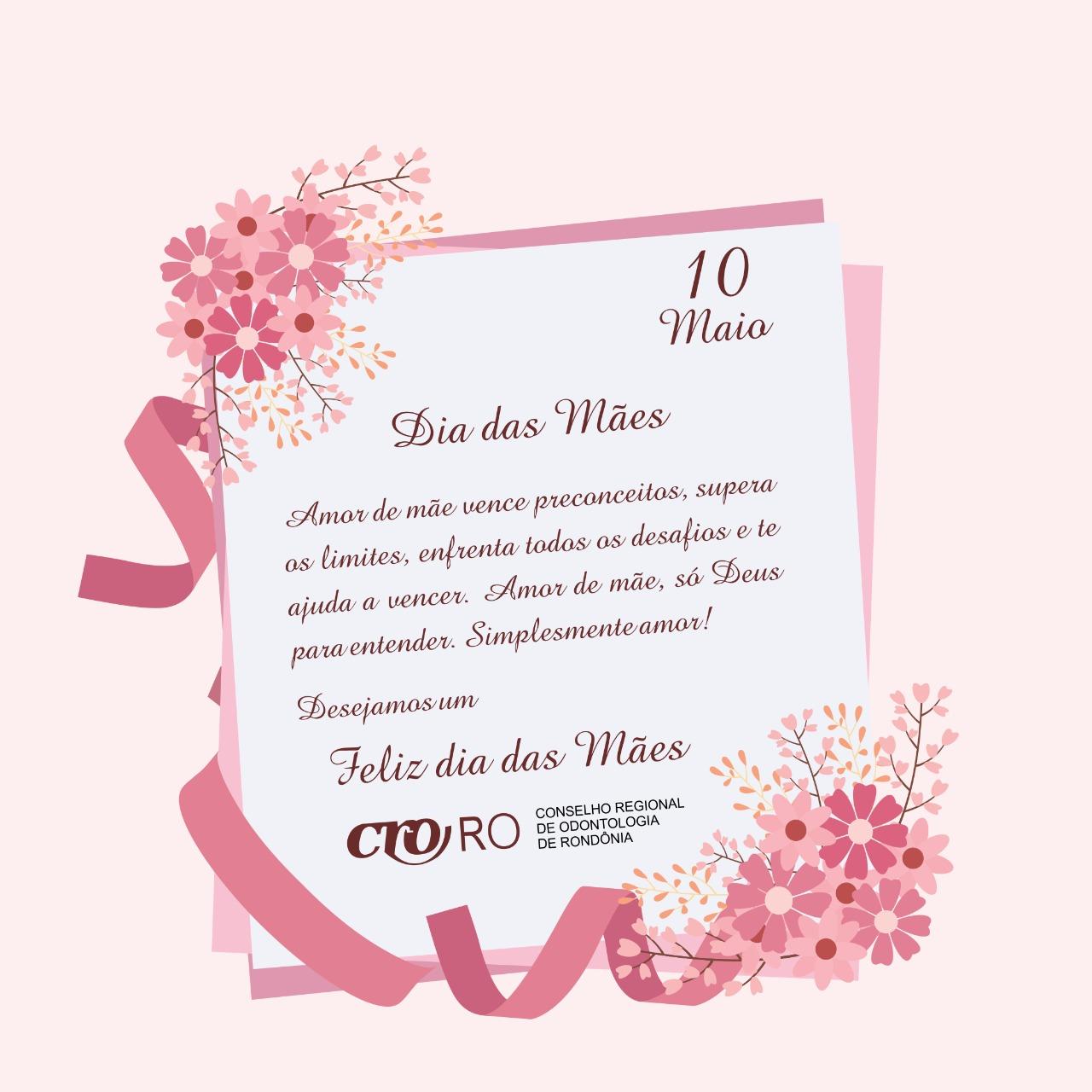 Dia das Mães uma homenagem do CRO-RO