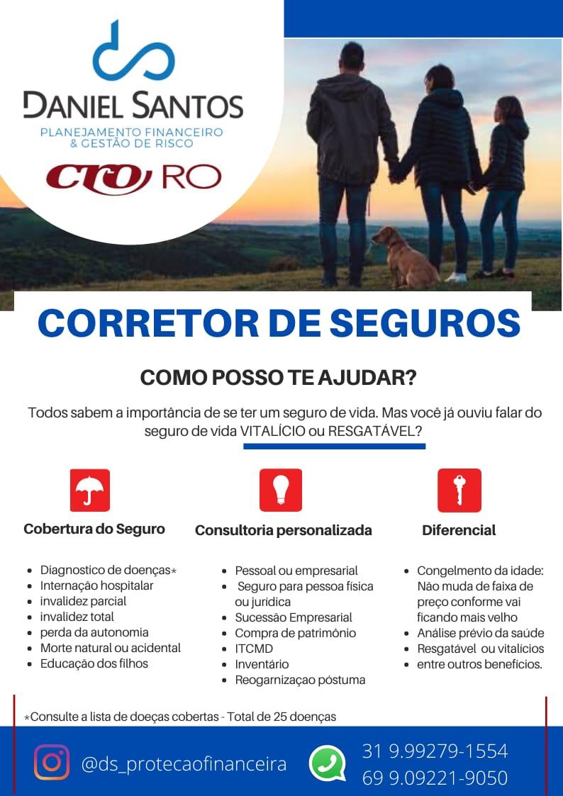 Parceria CRO-RO: corretor de seguros Daniel Santos