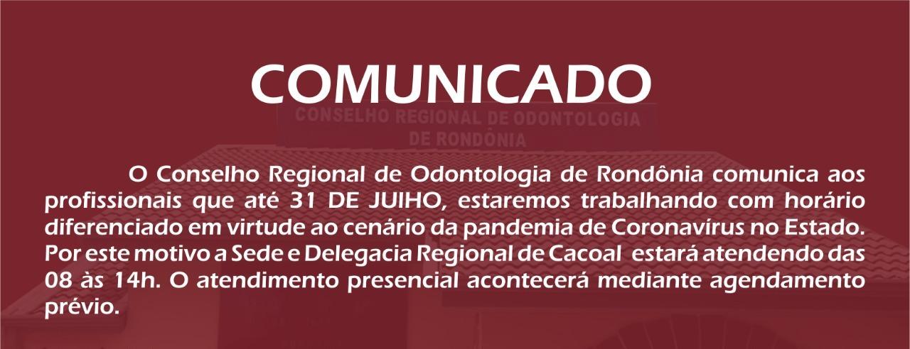 COMUNICADO: Atendimento presencial por agendamento permanecerá até 31 de julho