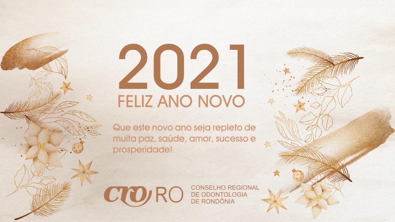 Plenário do CRO-RO deseja aos profissionais Um Feliz 2021!