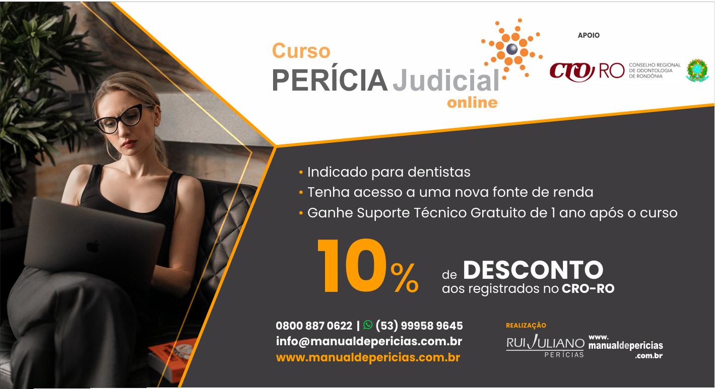 SEJA PERITO JUDICIAL DE SUCESSO – CURSO COM 10% DE DESCONTO